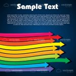 Colorful Arrows Background with Sample Text