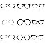 Set of Eye Glasses in Different Shapes and Styles