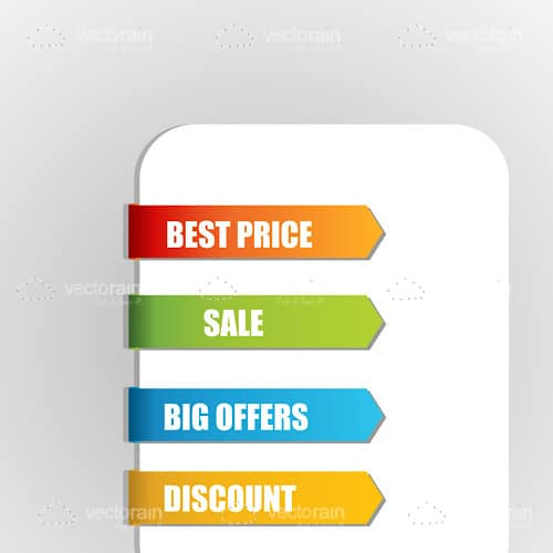 Colorful Sale Bookmark Tags on a White Board