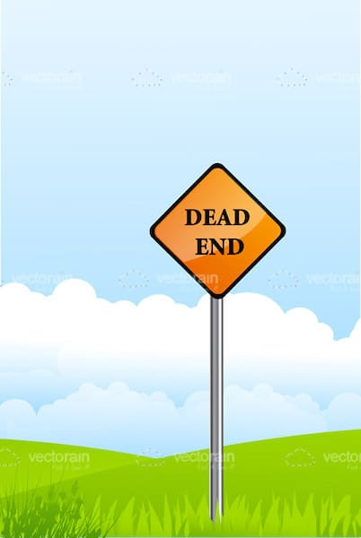 Dead End Sign Post Card
