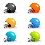Colourful American Football Helmets Icon Pack