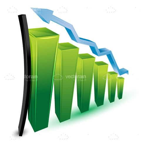 Growth Graphic with Bars and Arrow