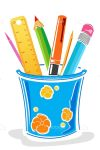 Illustrated Pencil Pot with Accessories