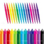 Illustrated Crayons and Draw Lines