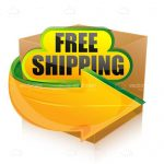 Cardboard Box with FREE SHIPPING Tag