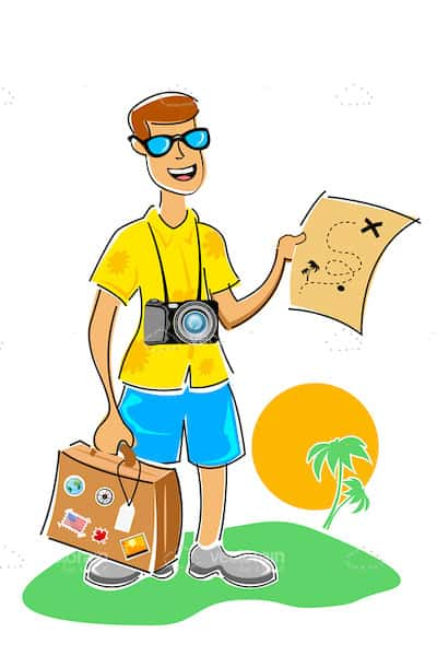 Illustrated Male Tourist
