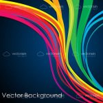 Colorful Curves Abstract Background