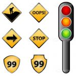 Traffic Signs Icon Set