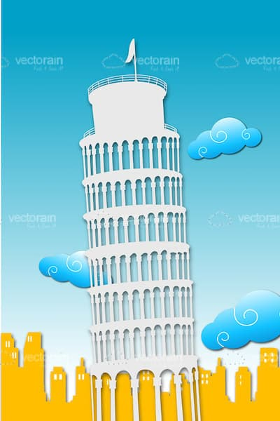 Straight Leaning Tower of Pisa Design