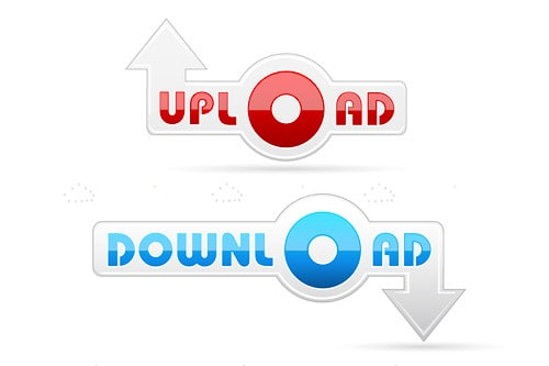 Upload and Download Buttons