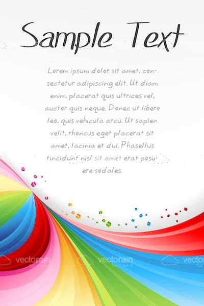 Abstract Background with Multicoloured Swirls and Sample Text