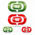 Green and Red Yes and No Icons Set