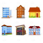 Variety of Houses Icon 6 Pack