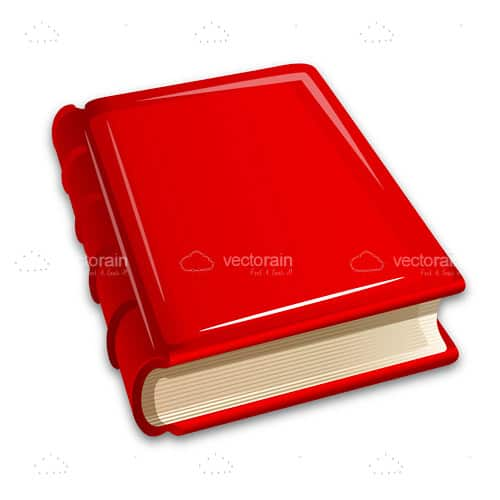 Illustrated Book with Hard Red Cover