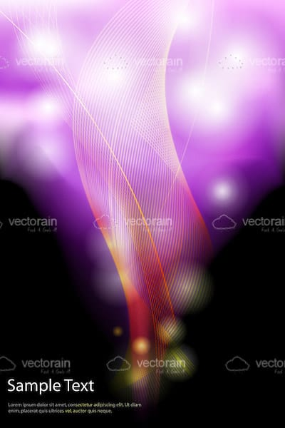 Modern Abstract Background with Colourful Bright Swirls