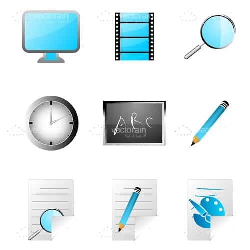 Education and Research Icon Set