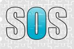 SOS Blue and Grey Jigsaw Design