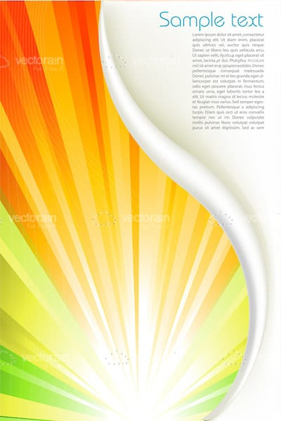 Abstract Background with Multicoloured Light Rays Pattern and Sample Text
