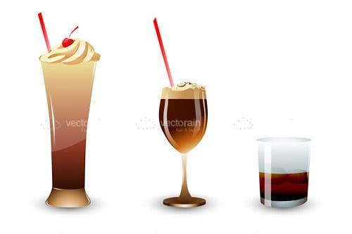 Trio of Cold Drinks Icons