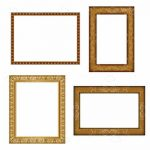 Wooden Photo Frame Icons 4 Pack