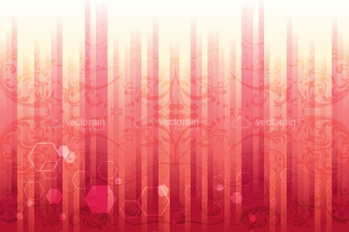 Abstract Background with Stripes, Floral and Geometric Patterns