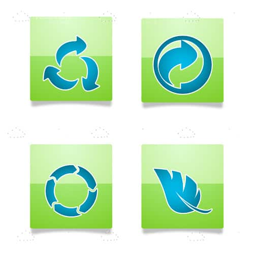 Blue on Green Recycle Theme Icon Pack