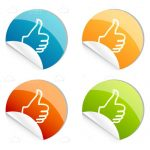 Thumbs Up Logo Stickers 4 Pack