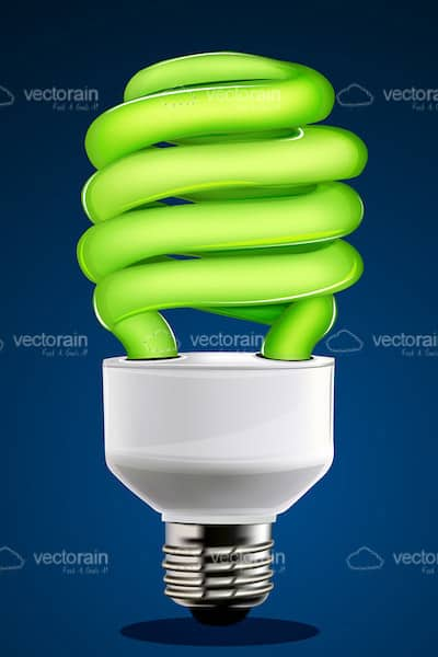 Neon Green CFL Lightbulb