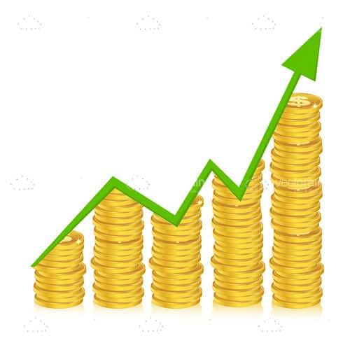 Growth Graph with Golden Coin Piles
