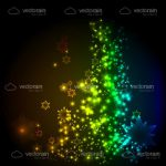 Abstract Background with Bright Colourful Dots and Stars