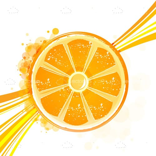 Abstract Background with Orange Slice