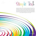 Fun Background with Multicolour Concentric Circles and Sample Text