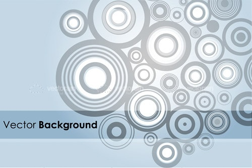 Abstract Background with Circles Pattern and Sample Text
