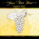 Abstract Bunch of Grapes on Elegant Background with Sample Text