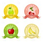 4 Pack of Fruit Themed Icon Design