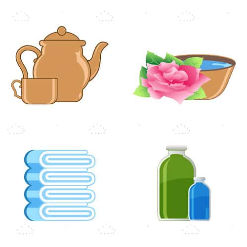 Minimal Illustrated Spa Themed Icon 4 Pack
