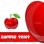 A Juicy Red Apple Icon with Stylised Sample Text
