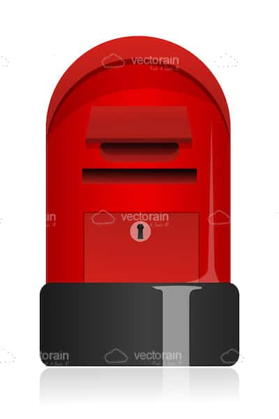 Glossy Red Letter Box