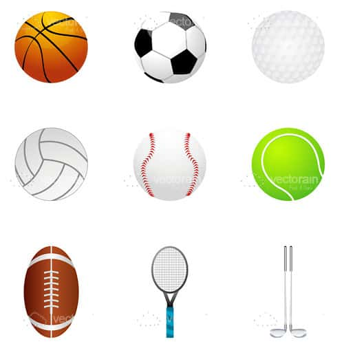 9 Pack of Sports Themed Icons