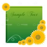 Green Card with Stylised Sample Text With Sun Flower Icons