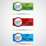 Green, Red and Blue Buy Now Tags