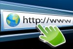 Browser Bar with Website Address and Cursor Hand