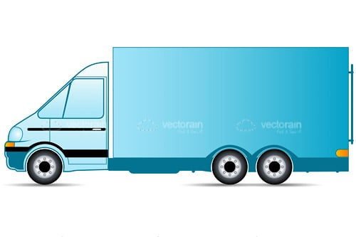 2D Illustrated Truck in Blue