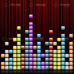 Music Equalizer in Colourful Cubes Design