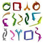 Multicoloured Arrow Icons Multipack