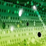 Abstract Futuristic Green Background