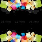 Abstract Geometric Background with Colourful Cubes