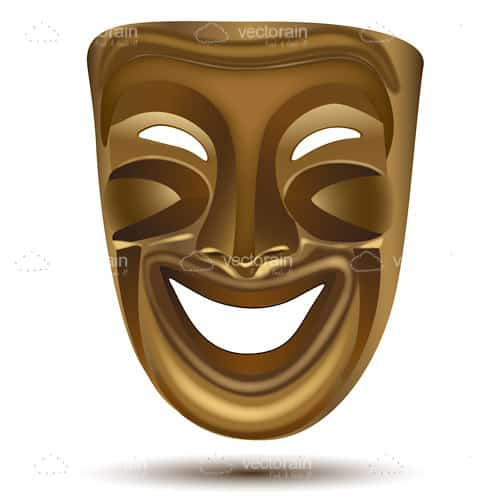 Golden Comedy Theatre Mask