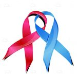 Pink and Blue Breast Cancer Awareness Ribbons