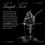 Abstract Black and White Background with Ice Cream and Sample Text